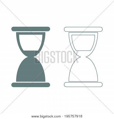 Hourglass The Grey Set Icon .