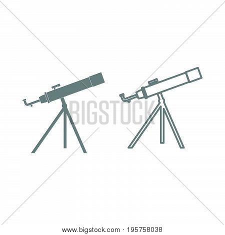 Telescope The Grey Set Icon .