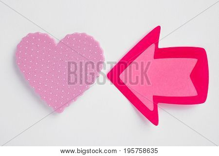 Health care background with heart and arrow signal. Valentine day