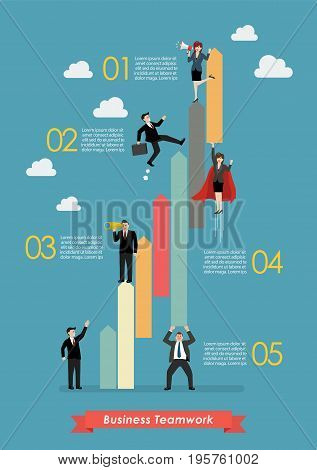 Business teamwork concept infographic. Vector illustration success concept