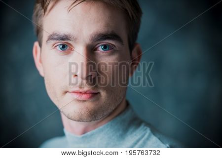 Close-up portrait of a crying man. Male beauty. Men's health.