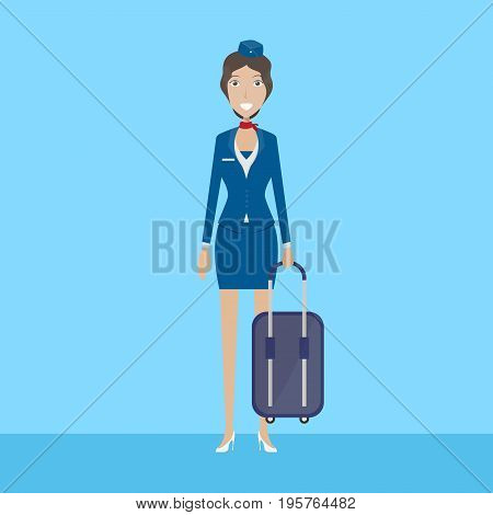 Flight Attendant Character   set of vector character illustration use for human, profession, business, marketing and much more.The set can be used for several purposes like: websites, print templates, presentation templates, and promotional materials.