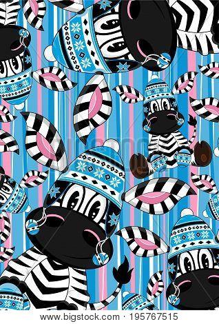 Cartoon Zebra 12