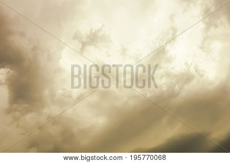 Background of orange clouds before a thunder-storm