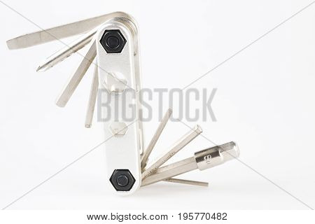 Stainless Steel Multi-tool pocket on white background