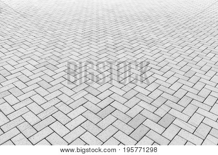 Concrete block paving for walkway Texture background.