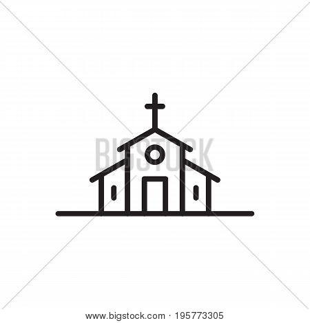Catholic Basilica icon vector isolated on white background