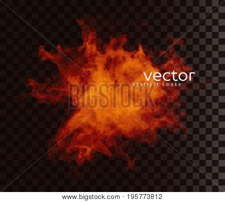 Vector Illustration Of Smoky Shape.