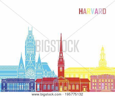 Harvard Ma Skyline Pop