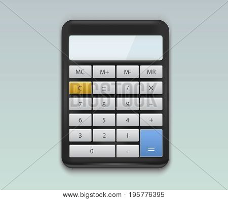 Realistic calculator vector. Calculator icon vector illusration