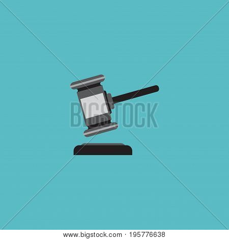 Flat Icon Auction Element. Vector Illustration Of Flat Icon Verdict Isolated On Clean Background