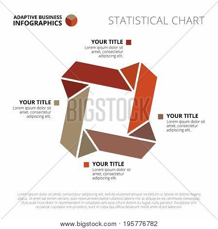 Business infographic diagram template with titles and sample text, multicolored version