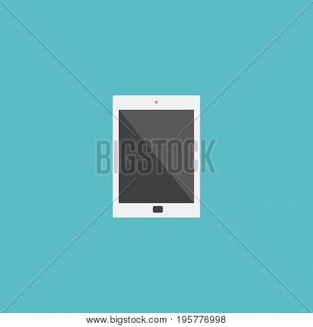 Flat Icon Tablet Element. Vector Illustration Of Flat Icon Palmtop Isolated On Clean Background