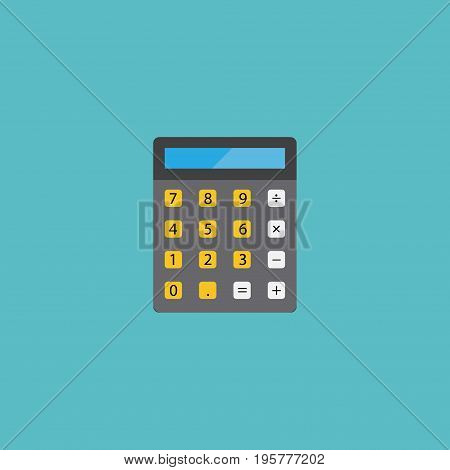 Flat Icon Calculator Element. Vector Illustration Of Flat Icon Accounting  Isolated On Clean Background