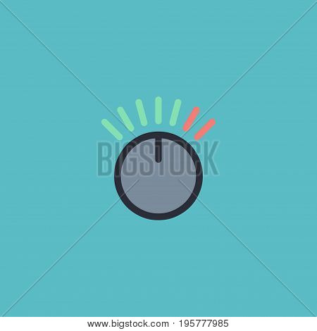 Flat Icon Volume Control Element. Vector Illustration Of Flat Icon Knob Isolated On Clean Background