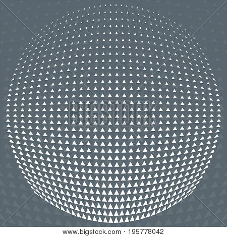 Vector pattern grey and White triangle Halftone circle grid gradient geometric abstract background