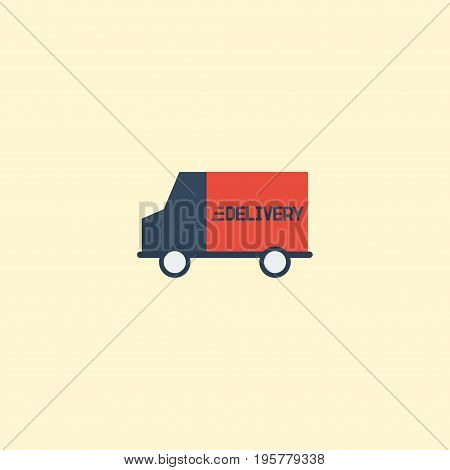 Flat Icon Delivery Element. Vector Illustration Of Flat Icon Bus  Isolated On Clean Background