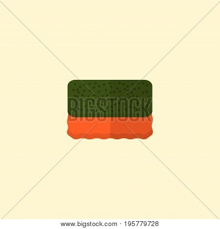 Flat Icon Sponge Element. Vector Illustration Of Flat Icon Wisp Isolated On Clean Background
