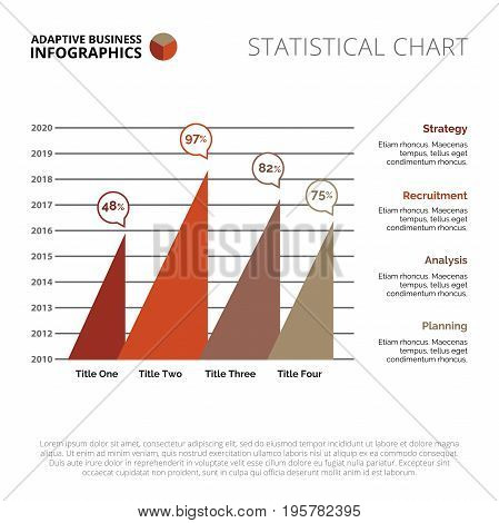 Triangle chart. Element of presentation, graph, diagram. Concept for infographics, business templates, marketing reports. Can be used for topics like marketing analysis, annual statistics