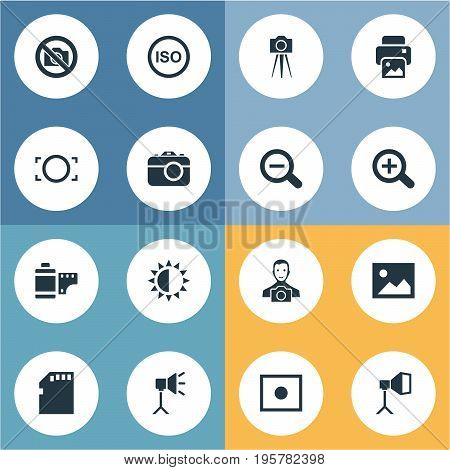 Vector Illustration Set Of Simple Photograph Icons