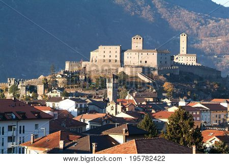 Castle Of Castelgrande At Bellinzona