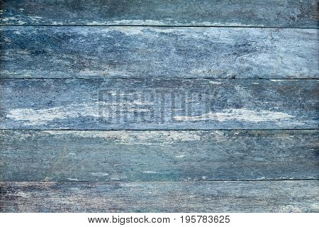 Rustic Old Wooden Weathered Plank Timber Background - Blue Tones
