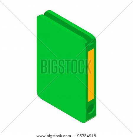 Folder for papers 3D business icon vector illustration isolated on white. File for important documents, symbol of archive or portfolio sign