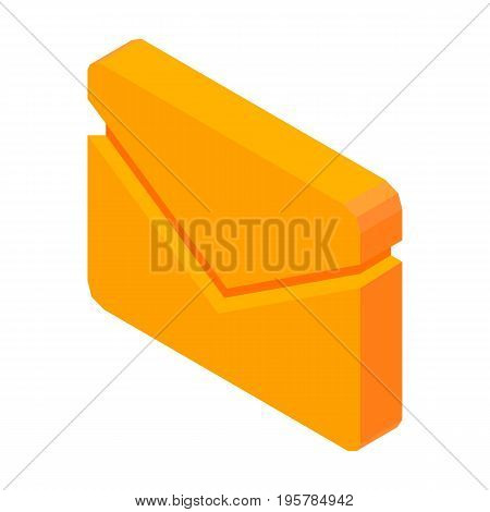 Letter mail 3D icon vector illustration isolated on white. Sign of message, information about income correspondence on e-mail address