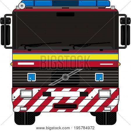 Uk Fire Engine.eps