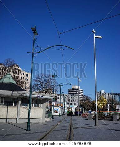 Public Park In Christchurch, New Zealand