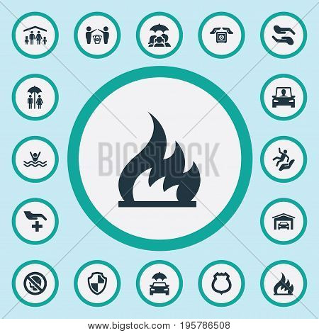 Vector Illustration Set Of Simple Warrant Icons