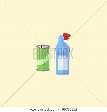 Flat Icon Detergent Element. Vector Illustration Of Flat Icon Means For Cleaning  Isolated On Clean Background