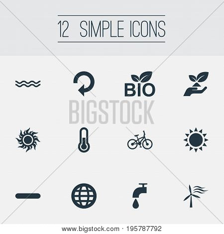 Vector Illustration Set Of Simple Power Icons