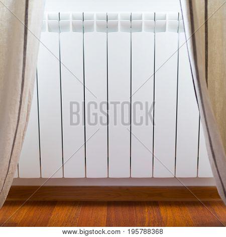 heating radiator in cozy room
