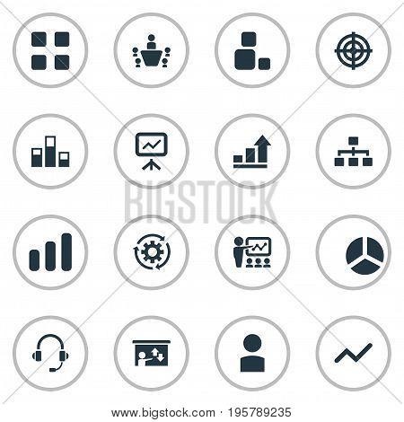 Vector Illustration Set Of Simple Seminar Icons