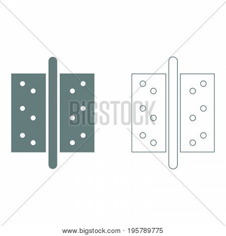 Accessories for door  it is grey  icon .