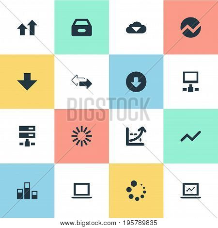 Vector Illustration Set Of Simple Data Icons