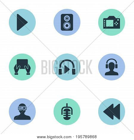 Vector Illustration Set Of Simple Multi Icons