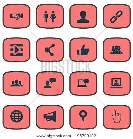 Vector Illustration Set Of Simple Media Icons