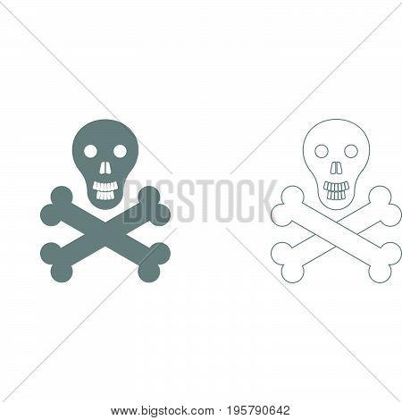Skull and bones it is  set icon .