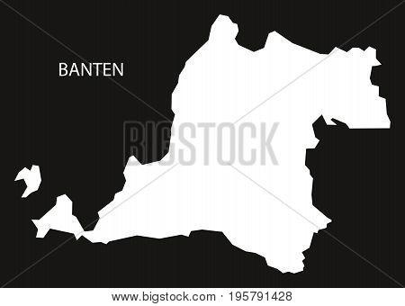 Banten Indonesia Map Black Inverted Silhouette Illustration Shape