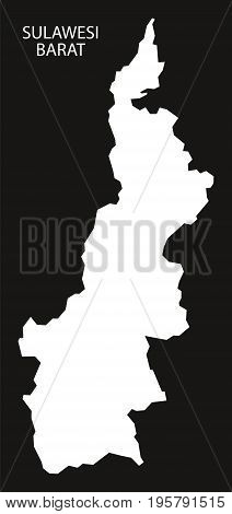 Sulawesi Barat Indonesia Map Black Inverted Silhouette Illustration Shape