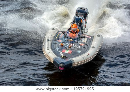 Riga, LV - JULY 16, 2017: World Championship RIB 2017 Powerboat 17