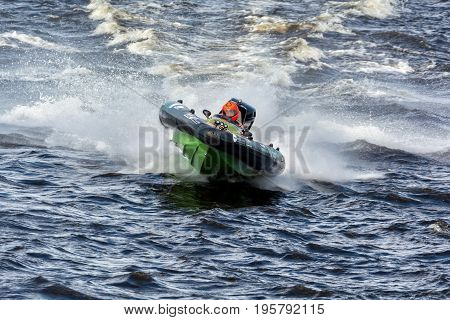 Riga, LV - JULY 16, 2017: World Championship RIB 2017 Powerboat 11