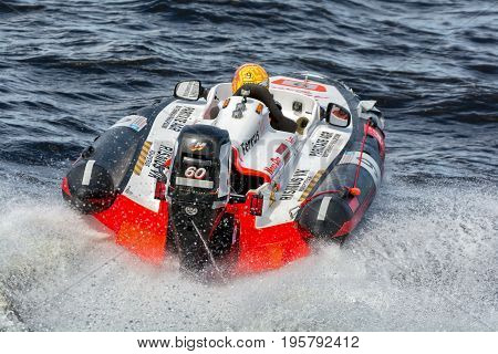 Riga, LV - JULY 16, 2017: World Championship RIB 2017 Powerboat 9