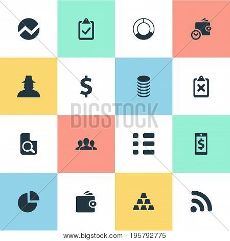 Vector Illustration Set Of Simple Banking Icons