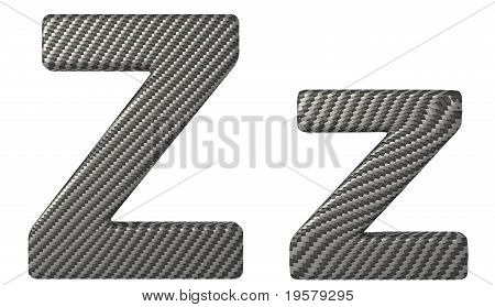 Carbon Fiber Font Z Lowercase And Capital Letters