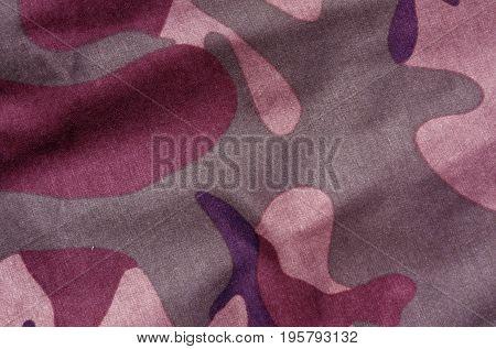 Color Camouflage Uniform Surface.