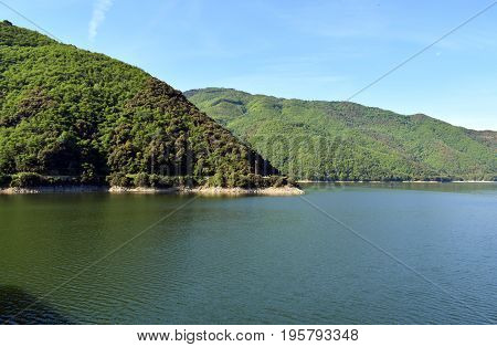 water current.... Reservoir of Suaqueda placed in Gerona Spain