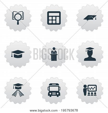 Vector Illustration Set Of Simple Knowledge Icons
